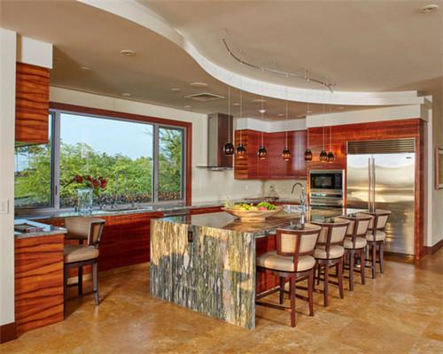 厨餐合一娱乐实用 大户型开放式厨房