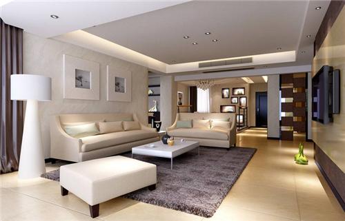 因为客厅里面少不了影视墙,电视和家庭影院等等的设备;   2.