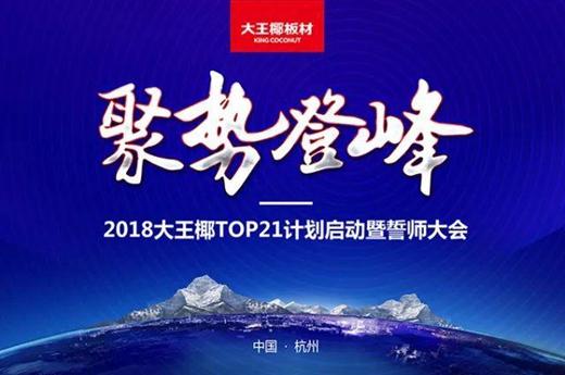 """启动""""TOP21计划"""" 大王椰板材再兴战略2018新起点"""