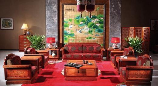 """红木家具里的""""中国年"""""""