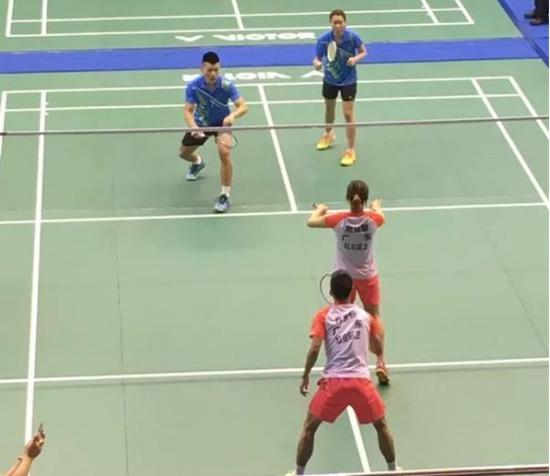 2018全国羽毛球冠军赛红日厨卫广东队获混合团体季军