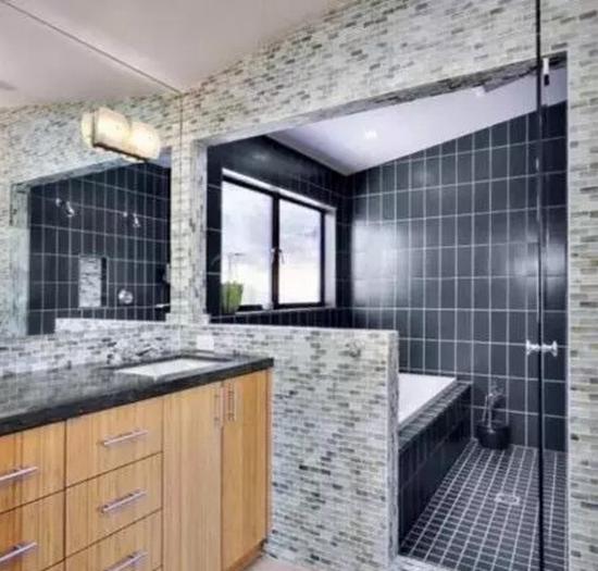 独立淋浴房,干湿分离这样设计