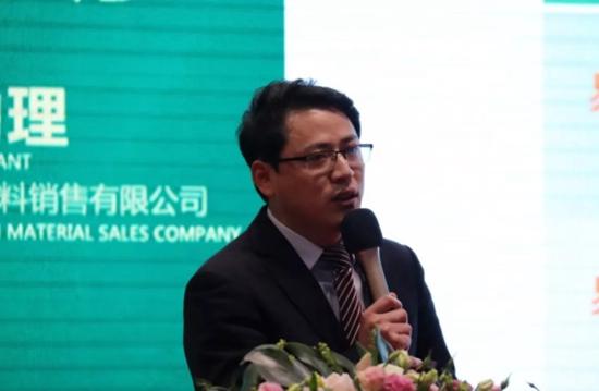 (德华兔宝宝装饰材料销售有限公司总经理助理陈海明作兔宝宝易装运营