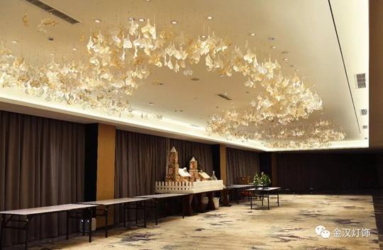 金汉灯饰为丽呈华廷酒店定制全系列艺术灯饰