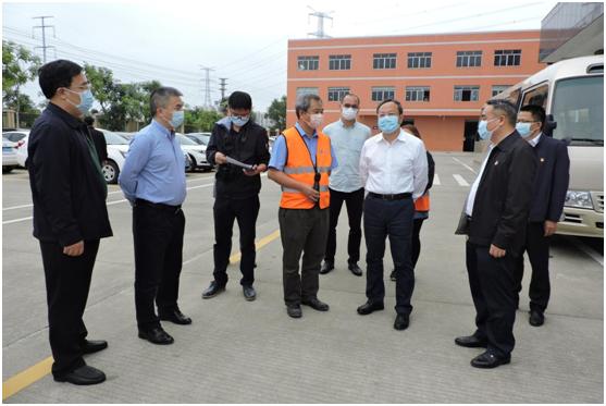 江门市市长刘毅一行莅临高美空调 指导复工复产工作