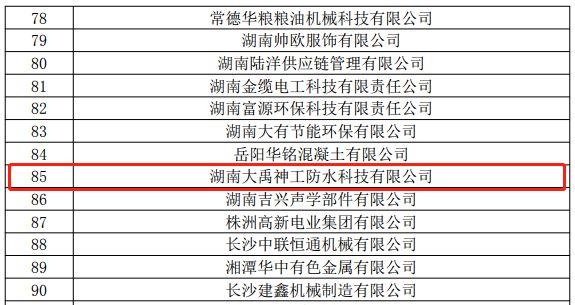 十大品牌|湖南大禹神工防水科技有限公司获得国家高新技术企业认证